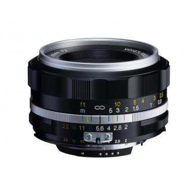 Voigtlander 40mm f2 SL II-S Nokton Nikon Fit Silver Lens