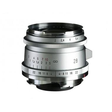 Voigtlander 28mm f2 VM Ultron Vintage Line ASPH Type II Lens Silver