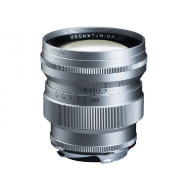 Voigtlander 75mm f1.5 VM ASPH Vintage Line Nokton Silver Lens