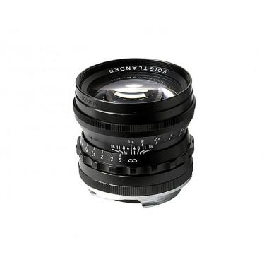 Voigtlander 50mm f1.5 VM ASPH Vintage Line Nokton Black Lens