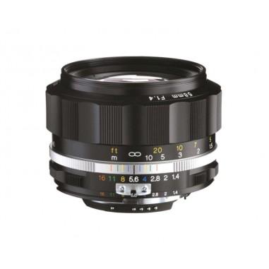 Voigtlander 58mm f1.4 SL II-S Nokton Nikon Fit Black Lens