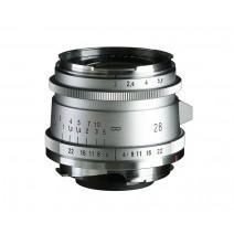 Voigtländer-Voigtlander 28mm f2 VM Ultron Vintage Line ASPH Type II Lens Silver