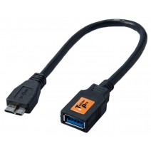 "Tether Tools-TetherTools CU5465 TetherPro USB 3.0 Micro OTG Adapter 6"" Micro B Male to Type A Female"