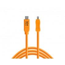 Tether Tools-TetherTools CUC2615-ORG TetherPro USB-C to 2.0 Mini-B 8-Pin, 15' (4.6m) Orange Cable