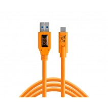 Tether Tools-TetherTools CUC3215-ORG TetherPro USB 3.0 to USB-C, 15' (4.6m) Orange Cable
