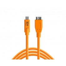 Tether Tools-TetherTools CUC3315-ORG TetherPro USB-C to 3.0 Micro-B, 15' (4.6m) Orange Cable