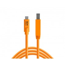 Tether Tools-TetherTools CUC3415-ORG TetherPro USB-C to 3.0 Male B, 15' (4.6m) Orange Cable