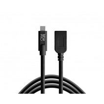 Tether Tools-TetherTools CUCA415-BLK TetherPro USB-C to USB Female Adapter (extender), 15' (4.6m) Black Cable