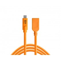 Tether Tools-TetherTools CUCA415-ORG TetherPro USB-C to USB Female Adapter (extender), 15' (4.6m) Orange Cable
