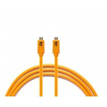 Tether Tools-TetherTools CUCP15-ORG TetherPro USB-C to USB-C for Phase One, 15' (4.6m) Orange Cable