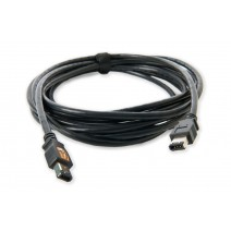 Tether Tools-TetherTools FW44BLK TetherPro FireWire 400 6 Pin to 6 Pin 15' (4.6m) Cable