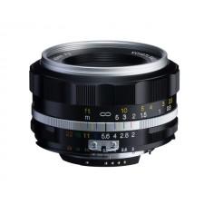 Voigtländer-Voigtlander 40mm f2 SL II-S Nokton Nikon Fit Silver Lens