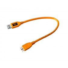 Tether Tools-TetherTools CU5404ORG TetherPro USB 3.0 SuperSpeed Male A to Micro B 1' (0.3m) Cable Orange