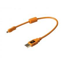 Tether Tools-TetherTools CU8001-ORG TetherPro USB 2.0 Male to Mini-B 8pin 1' (30cm) Cable Orange