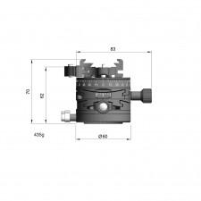 Arca Swiss Tripod Heads-Arca Swiss L60 Leveller Conversion with Quickset Fliplock Device