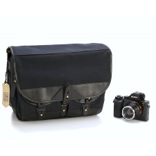 Fogg Specialist Bags-Fogg B-Major Satchel Black Fabric with Black Leather
