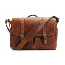 Ona-Ona Brixton Messenger Bag - Antique Cognac Leather
