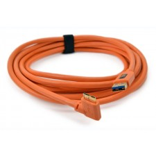 Tether Tools-TetherTools CU61RT15-ORG TetherPro USB 3.0 SuperSpeed Micro-B Right Angle 15' (4.6m) Cable