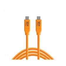 Tether Tools-TetherTools CUC10-ORG TetherPro USB-C to USB-C, 10' (3m) Orange Cable