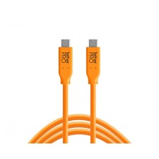 Tether Tools-TetherTools CUC15-ORG TetherPro USB-C to USB-C, 15' (4.6m) Orange Cable