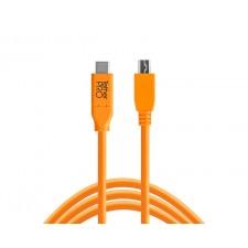 Tether Tools-TetherTools CUC2415-ORG TetherPro USB-C to 2.0 Mini-B 5-Pin, 15' (4.6m) Orange Cable