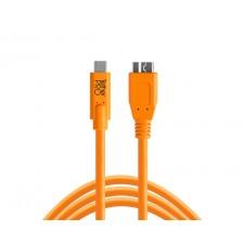 Tether Tools-TetherTools CUC3315-ORG TetherPro USB-C to 3.0 Micro-B, 15' (4.6m) Orange Cable