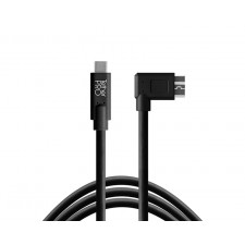 Tether Tools-TetherTools CUC33R15-BLK TetherPro USB-C to 3.0 Micro-B Right Angle, 15' (4.6m) Black Cable