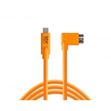 Tether Tools-TetherTools CUC33R15-ORG TetherPro USB-C to 3.0 Micro-B Right Angle, 15' (4.6m) Orange Cable