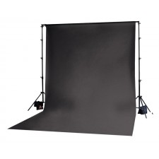 Photoflex-Photoflex Black Solid Muslin Backdrop 3m x 3.65m