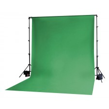 Photoflex-Photoflex Chromakey Green Solid Muslin Backdrop 3m x 3.65m