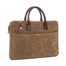 Ona-Ona Kingston Laptop Briefcase - Field Tan