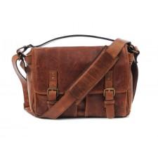 Ona-Ona Prince Street Messenger Bag - Antique Cognac Leather