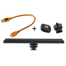 Tether Tools-TetherTools RS317ORGKT CamRanger Camera Mounting Kit w/ USB 3.0 Mini-B 5 Pin 1' (30cm) Orange