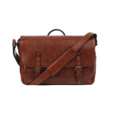 Ona-Ona Union Street Messenger Bag - Walnut Leather